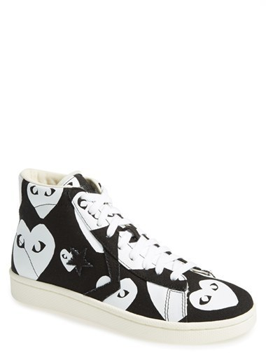 Comme Des Garcons Play X Converse Chuck Taylor High Top Sneaker