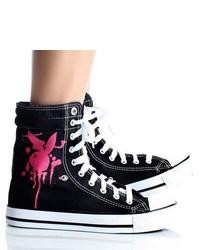 Playboy By Beston Black High Top Sneakers