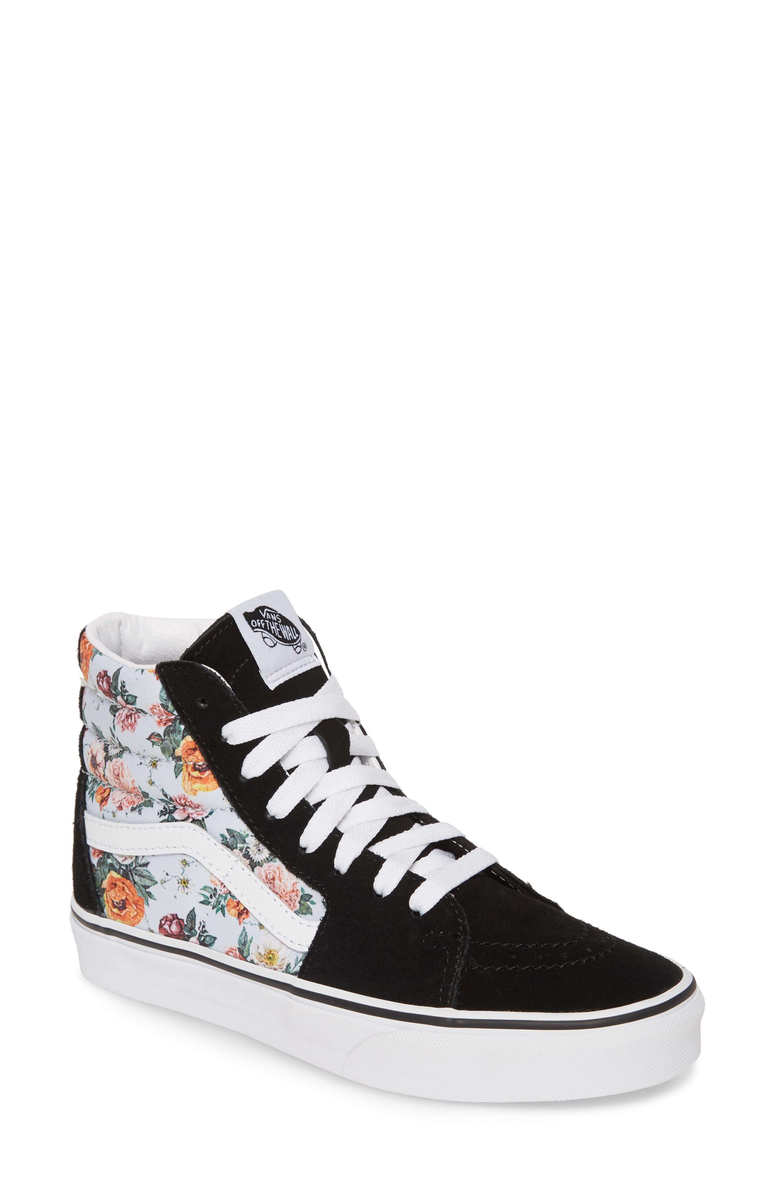 Vans Sk8 Hi Checker Floral High Top