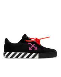 Off-White Black And Pink Low Vulcanized Sneakers