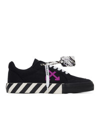 Off-White Black And Purple Low Vulcanized Sneakers