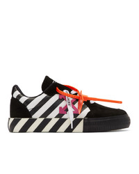 Off-White Black And White Low Top Vulcanized Sneakers