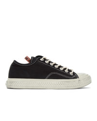 Acne Studios Black Canvas Low Top Sneakers