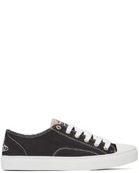 Vivienne Westwood Black White Plimsoll Low Sneakers