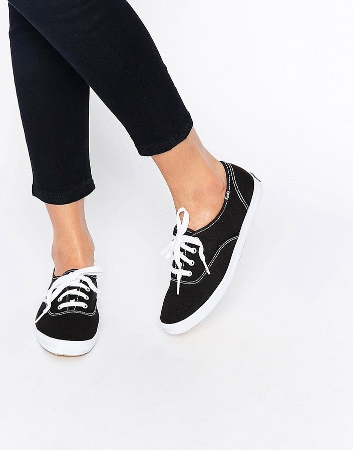 ... Keds Champion Canvas Black White Sneaker Shoes ... f32f654b5