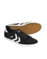 Hummel Stadil Slimmer Low Top Shoes Canvas Sneakers Blackwhite