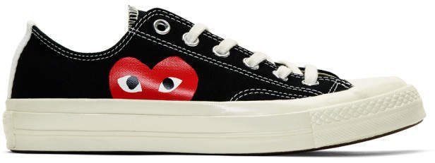 628cfa779a1b3b ... Low Top Sneakers Comme des Garcons Play Black Converse Edition Chuck  Taylor All Star 70 Sneakers ...