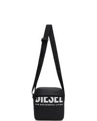 Diesel Black F Bold Doublecross Iii Messenger Bag