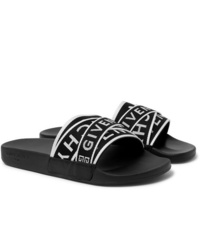 Black and White Canvas Sandals