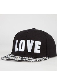 Absolutely Daisy Lovehate Snapback Hat Black One Size For 234049100