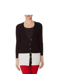 The limited long colorblock cardigan black xl medium 244393