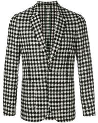 Black and White Check Blazer