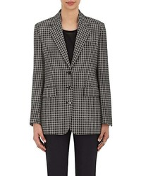 Checked wool three button jacket medium 6834090