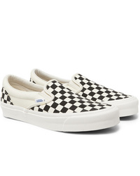 Vans Og Classic Lx Checkerboard Canvas Slip On Sneakers
