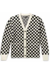 Amiri Checked Cashmere And Virgin Wool Blend Cardigan