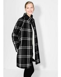 Mango Check Wool Blend Coat