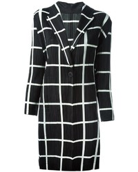 Pleats Please By Issey Miyake Checked Pleated Coat
