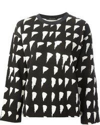 Cedric charlier tonal check print sweater medium 1361484