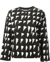 Cedric charlier tonal check print sweater medium 85732