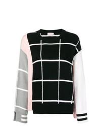 MRZ Colour Block Check Sweater