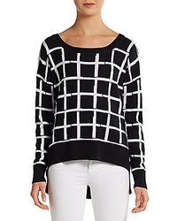 Grid check hi lo pullover medium 175126