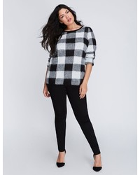 Plaid jacquard sweater medium 3667407