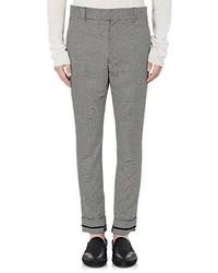 Haider Ackermann Houndstooth Stretch Cotton Trousers