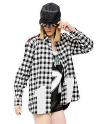 Printed checked shirt medium 106258