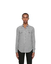 Saint Laurent Black And White Dallas Western Shirt