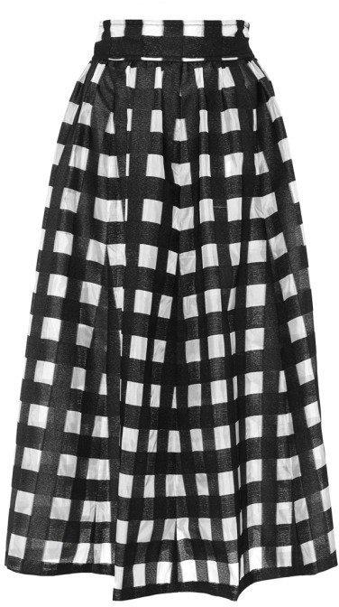 Long black and white gingham skirt – Modern skirts blog for you