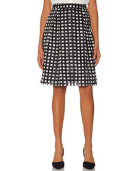 The limited high waist grid skirt medium 181012