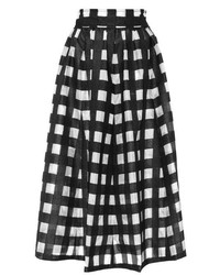 Apiece Apart Valencia Circle Skirt In Black Gingham