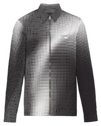 Prada Gradient Effect Zip Up Shirt