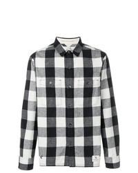 Black and White Check Long Sleeve Shirt