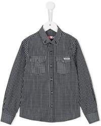 MSGM Kids Checked Pattern Shirt