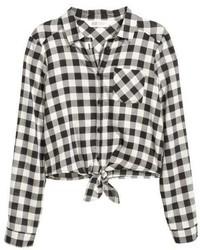 H&M Tie Front Blouse
