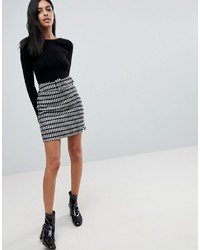 ASOS DESIGN Asos Mini Skirt In Check With Self Belt