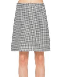 Max Studio Mini Check Jacquard A Line Skirt