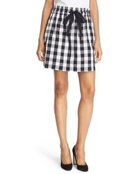 Kate Spade New York Gingham Cotton Miniskirt
