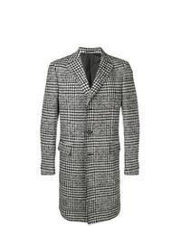 Z Zegna Checked Single Breasted Coat