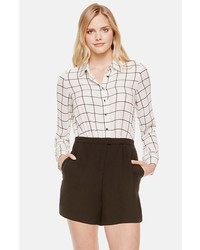Vince Camuto Windowpane Romper With Crepe Shorts