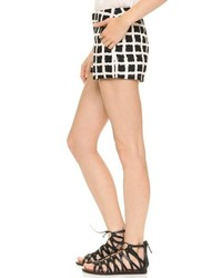 Black And White Check Shorts
