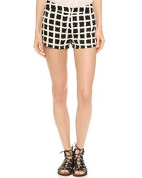 Black and White Check Shorts for Women | Women's Fashion