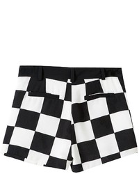 ChicNova Twin Pockets Black White Checks Shorts | Where to buy ...