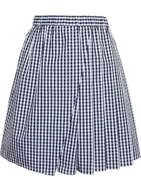 No.21 N21 Pleated Check Mini Skirt