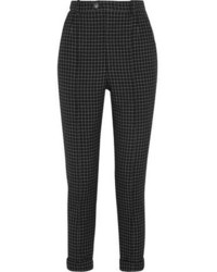 Isabel Marant Iola Checked Wool Twill Tapered Pants