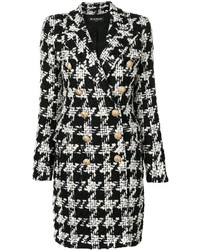 Houndstooth tweed coat medium 5370995