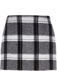 Black check mini skirt medium 121963