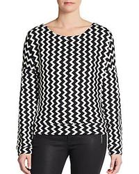 Chevron print knit pullover medium 122721