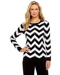 Preston York Anna Chevron Sweater